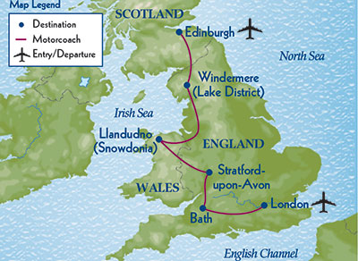 Map Of England Edinburgh.Journey Through Britain Odysseys Unlimited The Small Group